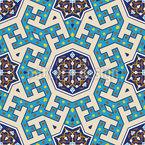 Marokkanische Rosetten Vektor Muster