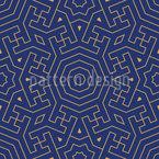 Marokkanisches Labyrinth Nahtloses Vektormuster