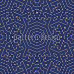 Moroccan Labyrinth Seamless Vector Pattern Design