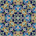 Persische Blumen Nahtloses Vektormuster