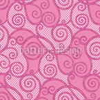 Curly Sue Seamless Vector Pattern Design