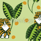 Bush Tiger Vector Ornament