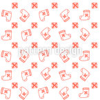 Sock For Christmas Gifts Vector Pattern