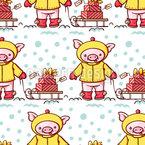 Weihnachts Karikaturschweinen Vektor Design