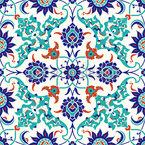 イズニク・タイル シームレスなベクトルパターン設計