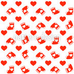 Christmas Heart Socks Vector Design