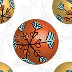 3D Christbaumkugeln Nahtloses Vektormuster