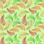 Rowan Or Fern Seamless Pattern