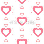Cute Hearts Seamless Vector Pattern Design