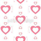Süße Herzen Nahtloses Vektormuster
