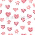 Süßes Herz Formen Nahtloses Vektormuster