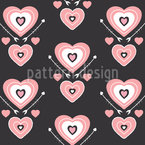 Heart interlacing Seamless Vector Pattern Design