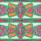 Ikat-Symmetrie Nahtloses Vektor Muster