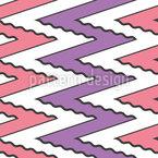 Wellenförmiger Zickzack Nahtloses Vektor Muster