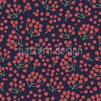 ベリーの秋 シームレスなベクトルパターン設計