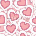 Herzhaufen Nahtloses Vektormuster