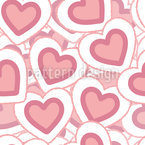 Pile Of Hearts Seamless Vector Pattern Design