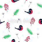 Birdy Christmas Seamless Pattern
