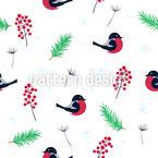Birdy Weihnachten Nahtloses Vektormuster