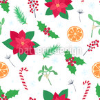 Common Christmas Items Seamless Vector Pattern