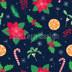 Usual Christmas Items Vector Pattern