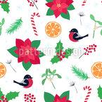 Frische Weihnachten Nahtloses Vektormuster