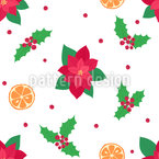 Organic Christmas Items Repeating Pattern