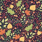 Natürlicher Herbst Nahtloses Vektormuster