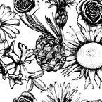 Blumen Und Trockenes Zeug Rapportmuster