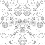 Irana In The Snow Seamless Vector Pattern Design