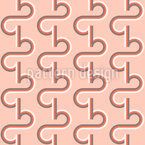 Retro Typo Ribbon Pattern Design