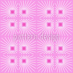 Squares And Rays Seamless Vector Pattern