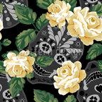 Blumenschädel Muster Design