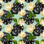 Romantic Skull Pattern Design