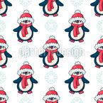 Süße Winterpinguine Nahtloses Muster