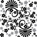 Eastern Magic White Seamless Vector Pattern Design