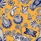 Colibri Love Seamless Vector Pattern Design