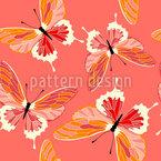 Heiße Schmetterlinge Nahtloses Vektormuster