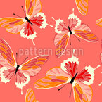 Hot Butterflies Repeat Pattern