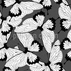 Mono Butterflies Seamless Vector Pattern Design