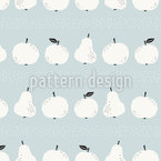 Apples And Pears In Stripes Repeating Pattern