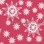 Stars On Wire Rot Nahtloses Vektormuster