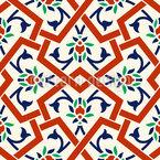 Türkisches Fleuron Nahtloses Vektor Muster