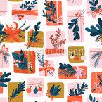 Cajas de regalo adornadas Estampado Vectorial Sin Costura