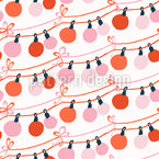 Chain Of Christmas Balls Seamless Vector Pattern Design