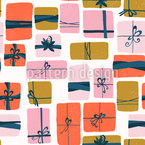 Gift Boxes With Loops Seamless Vector Pattern Design