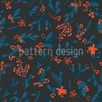 Mistletoe with bows Seamless Vector Pattern Design