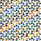 Fliegende Shuriken Nahtloses Muster