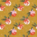 クリスマスツリーのオーナメント シームレスなベクトルパターン設計