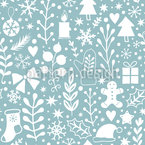 A Silent Night In Winter Seamless Vector Pattern Design